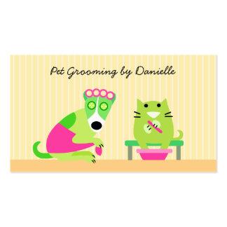 Groomer del mascota plantilla de tarjeta de visita