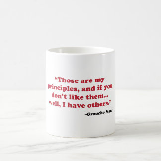 Groucho Marx - principios Tazas De Café