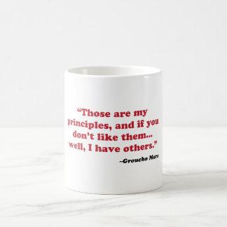 Groucho Marx - principios Taza De Café