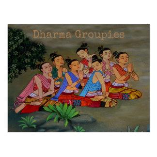 Groupies de Dharma - postal