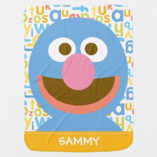 Grover el Baby| añade su nombre Mantita Para Bebé