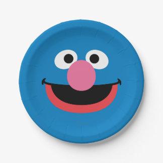 Grover hace frente a arte plato de papel