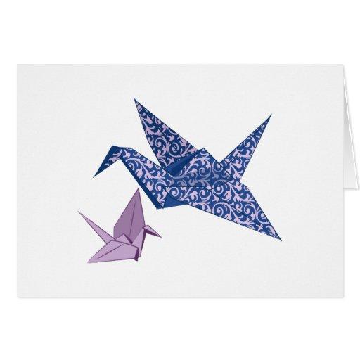 Grúa de Origami Felicitación