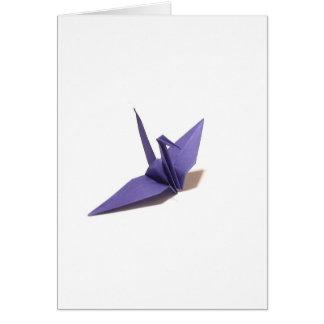 Grúa de Origami Tarjeta De Felicitación