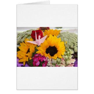 grúa del origami tarjeta de felicitación