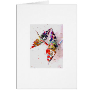 grúas de la paz de la molécula del arco iris tarjeta de felicitación
