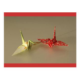 Grúas de Origami Postal