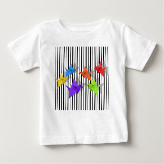 Grúas de papel camiseta de bebé
