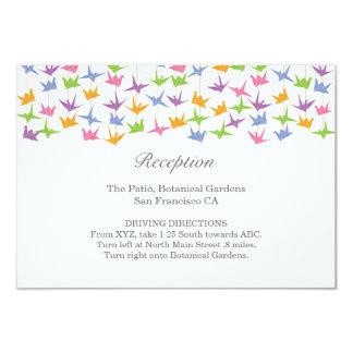 Grúas de papel colgantes de Origami que casan el Invitación 8,9 X 12,7 Cm