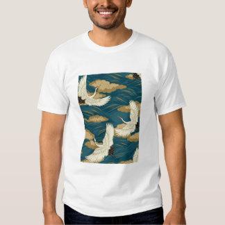 Grúas japonesas camisetas