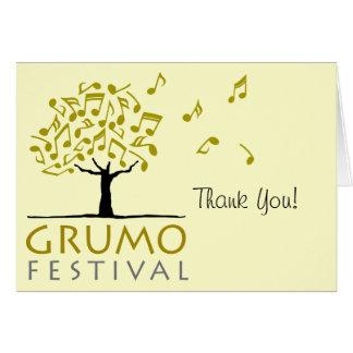 Grumo le agradece cardar felicitación