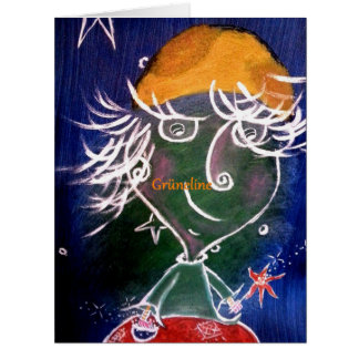 Grüneline Arte Card de amistad Tarjeta De Felicitación Grande