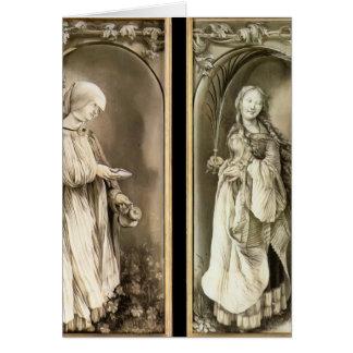 Grünewald-St de Matías. Elizabeth y una mujer del  Tarjeta