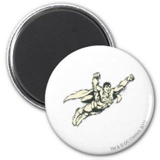 Grunge 2 del vuelo del superhombre imán redondo 5 cm