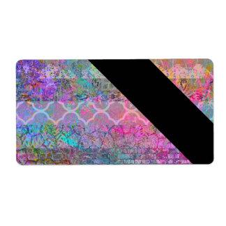 Grunge abstracto bohemio de la acuarela bonita etiquetas de envío