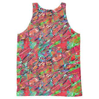 Grunge abstracto expresivo camiseta de tirantes con estampado integral