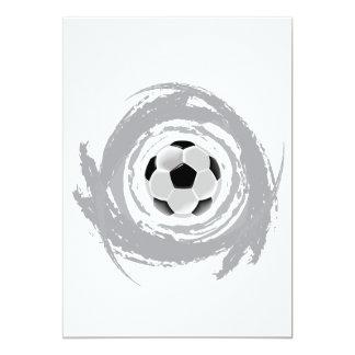 Grunge agradable de la circular del fútbol invitación 12,7 x 17,8 cm