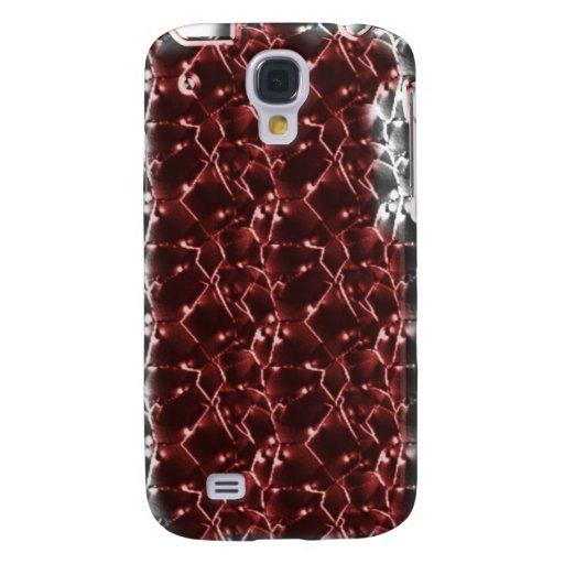 Grunge agrietado rojo y de plata iPhone3G del pavi