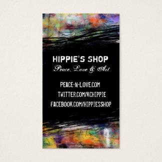 Grunge artístico tarjeta de negocios