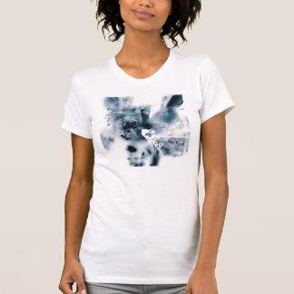 Grunge azul camisetas