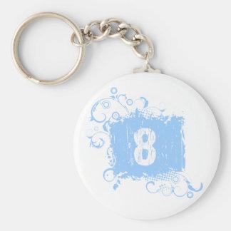 Grunge azul claro #8 llaveros