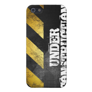 Grunge BAJO CONSTRUCCIÓN iPhone 5 Cárcasas