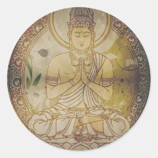 Grunge Buda del vintage Pegatina