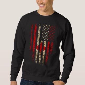 Grunge canadiense de la bandera americana sudadera