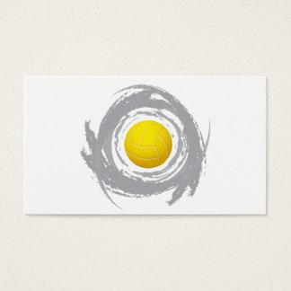 Grunge circular 2 del voleibol agradable tarjeta de negocios