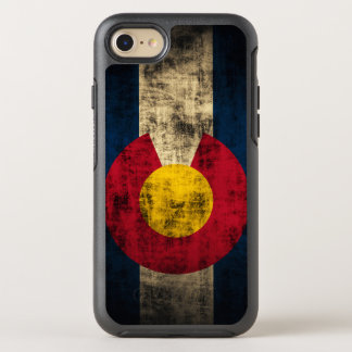 Grunge colorido de la bandera de Colorado Funda OtterBox Symmetry Para iPhone 8/7