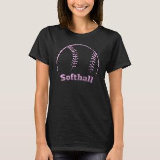 Grunge curvado softball camiseta