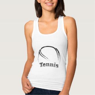 Grunge curvado tenis camiseta