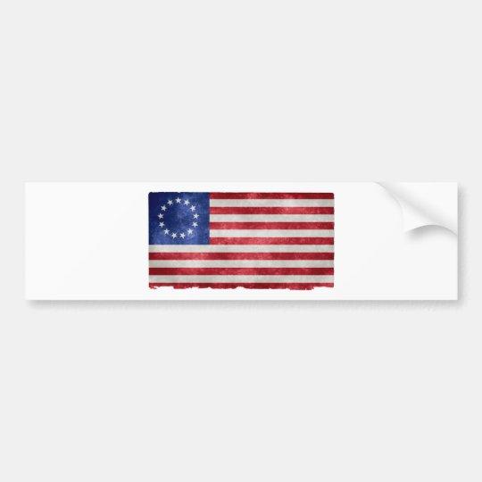 Grunge de la bandera de Betsy Ross Pegatina Para Coche