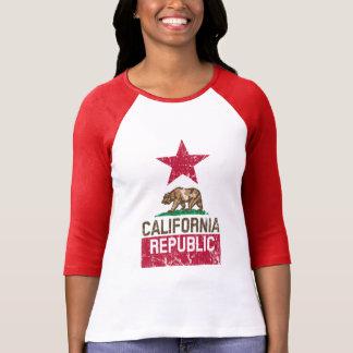 Grunge de la bandera del estado de la REPÚBLICA de Camisetas