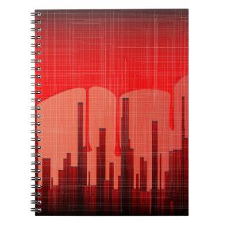 Grunge de la ciudad de la sangre cuaderno