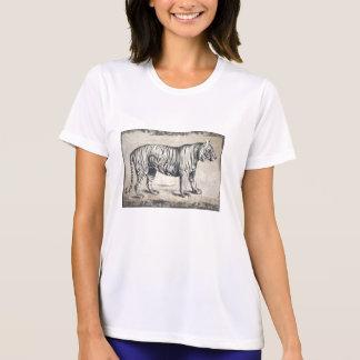 Grunge de la fauna del vintage del tigre camiseta