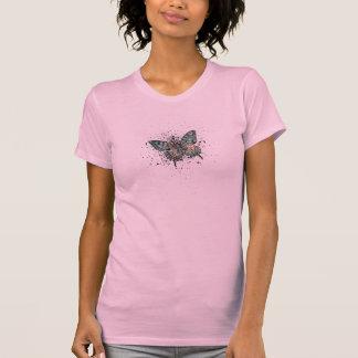 Grunge de la mariposa camisetas