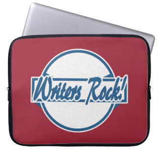Grunge del azul del logotipo del círculo de la funda para ordenador
