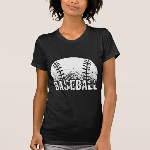 Grunge del béisbol camisetas