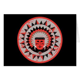 Grunge del jefe indio tarjeta de felicitación