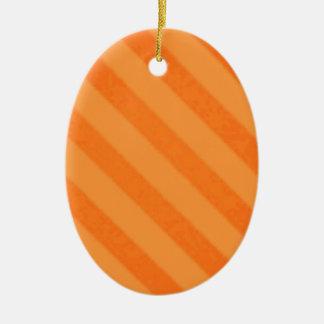 Grunge del naranja de la mandarina de la raya del ornamento para arbol de navidad