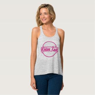 Grunge del rosa del logotipo del círculo de la camiseta con tirantes