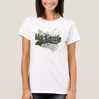 Grunge del tartán de MacKenzie Camiseta
