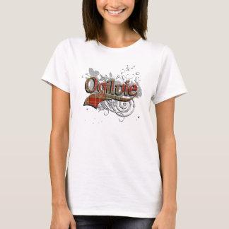Grunge del tartán de Ogilvie Camiseta