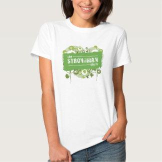 Grunge del verde de la demostración del dictador camiseta