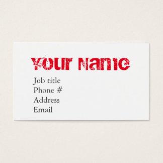 Grunge favorable tarjeta de negocios