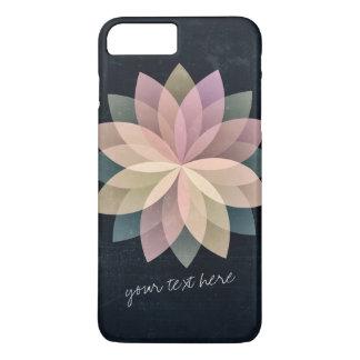 Grunge floral colorido elegante del negro de la funda para iPhone 8 plus/7 plus