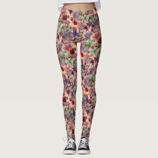 Grunge floral (melocotón) leggings