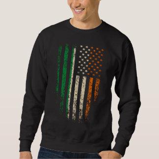 Grunge irlandés de la bandera americana sudadera