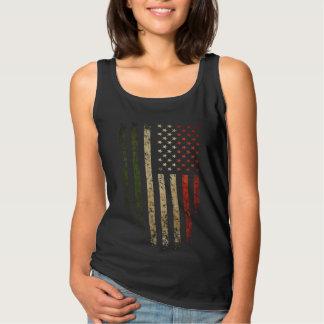Grunge italiano de la bandera americana camiseta con tirantes